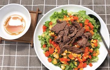 Salad rau củ thịt bò