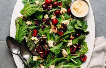 Salad rau trộn mù tạt vàng