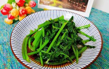 Salad tần ô trộn nước tương dầu mè