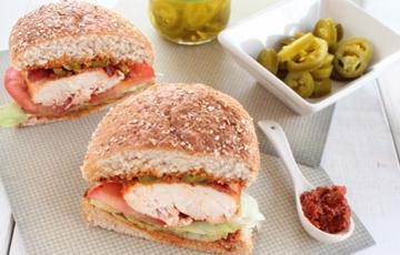 Sandwich kẹp gà
