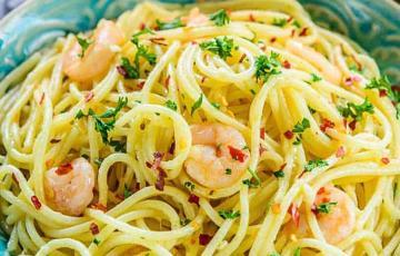 Spaghetti tỏi tôm