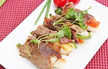 Thịt bò cuộn phô mai