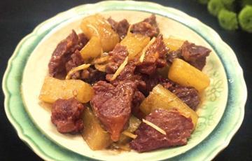 Thịt bò kho củ cải