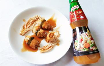Thịt gà cuộn nấm