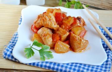 Thịt gà xào thơm chua ngọt