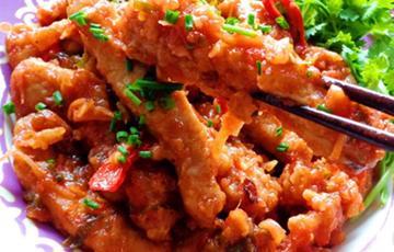 Thịt heo chiên sốt cà chua