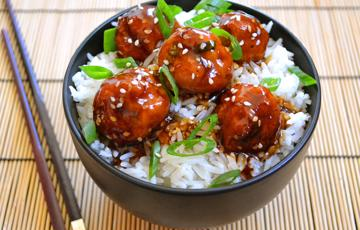 Thịt viên nướng sốt Teriyaki