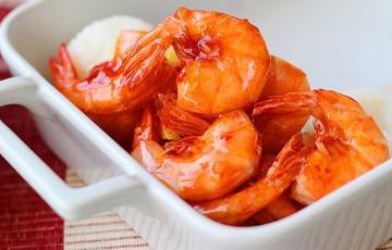 Tôm sốt thơm chua ngọt