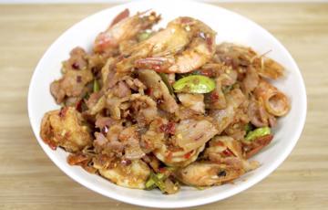 Tôm thịt xào đậu Parkia speciosa Thái Lan