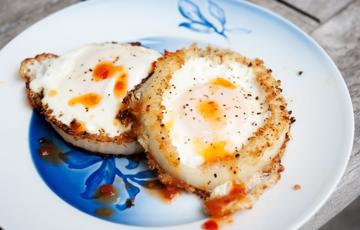 Trứng chiên hành tây giòn