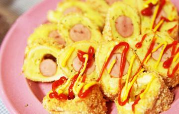 Trứng cuộn pate xúc xích