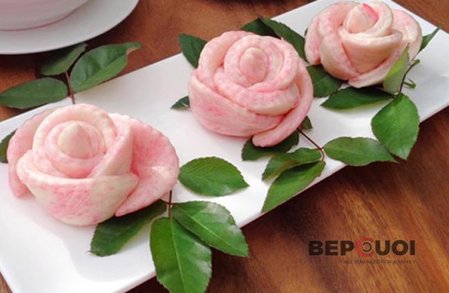 Bánh bao hoa hồng