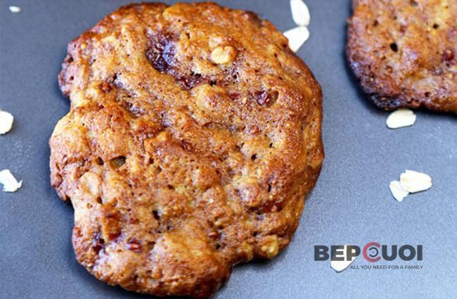 Cookies bơ đậu phộng mâm xôi
