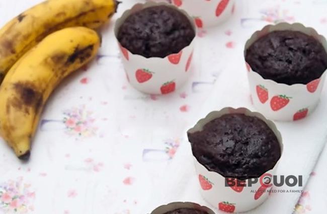 Cupcake chocolate chuối