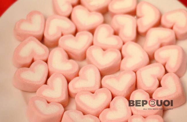 Kẹo xốp hình trái tim