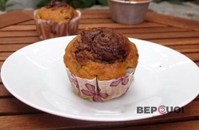 Muffin chuối nutella