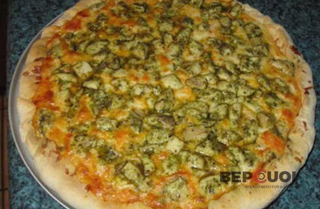 Pizza thịt gà