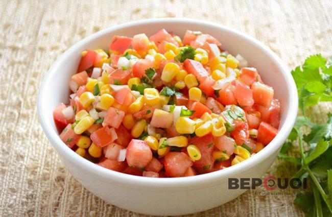 Salad cà chua bắp