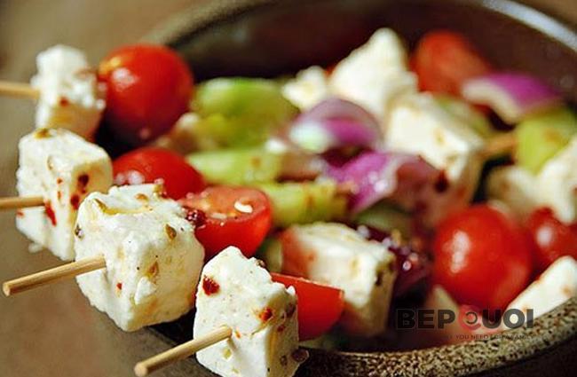 Salad Feta Kabobs xiên que