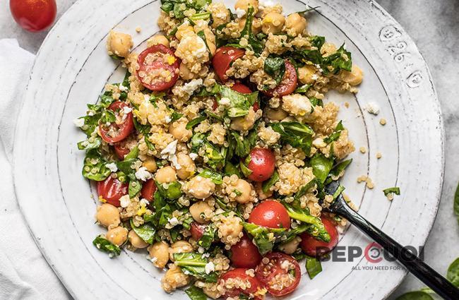 Salad rau bina hạt quinoa