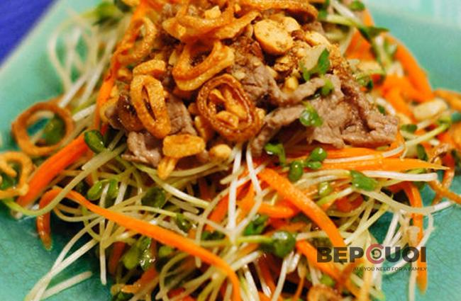 Salad rau mầm trộn
