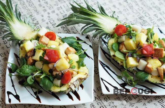 Salad thơm ức gà