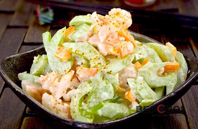 Salad tôm cần tây