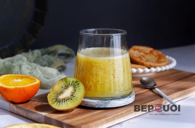 Sinh tố kiwi cam
