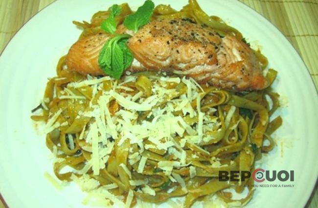 Spaghetti cá hồi