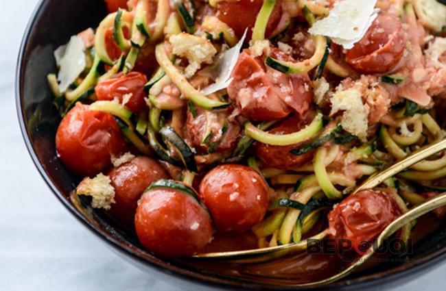Spaghetti từ sợi bí ngòi