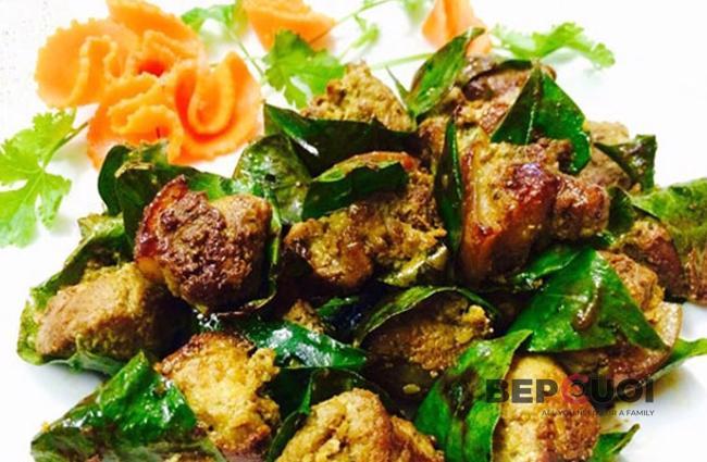 Thịt heo cuộn lá mắc mật nướng