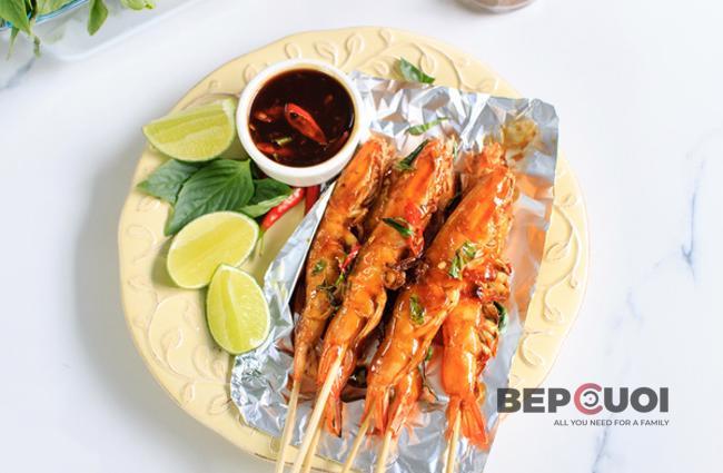 Tôm nướng kiểu Thái Lan