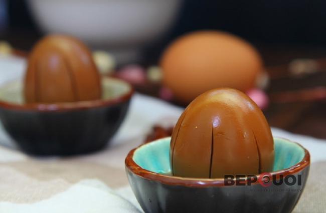 Trứng luộc ngâm nước tương thơm ngon
