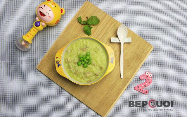 Cháo sườn đậu Hà Lan - Món ăn giàu dinh dưỡng cho bé