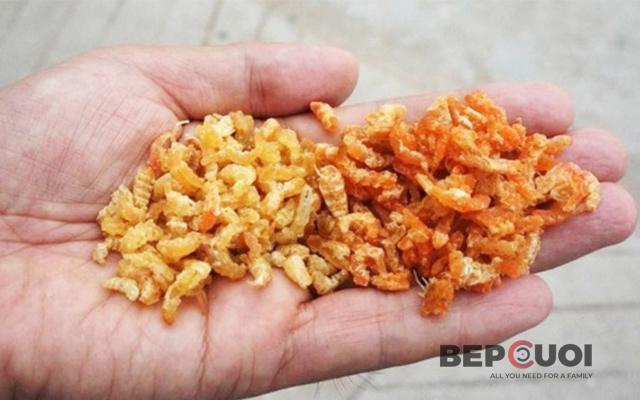 Mẹo phân biệt tôm khô tự nhiên và tôm khô có hóa chất